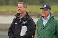 November 4, 2011  (Bladensburg, MD)  Maryland Governor Martin O'Malley (left) and Ken Salazar, U.S. Secretary of Transportation, joined federal, state, and local officials to celebrate the recent completion of 12 miles of walking and biking trail in the District and 1.5 miles in Maryland.  As part of a larger system, both trails will eventually provide nearly 60 miles of continuous trails.  The Anacostia River Watersheds' project was also selected to stimulate local economies, create local jobs, and improve quality of life under the Urban Waters Federal Partnership.     (Photo by Don Baxter/Media Images International)
