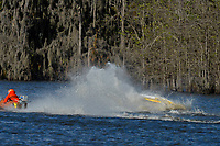 Frame 2: Serena Durr 96-F, Erin Pittman 6-H crash. (Outboard Hydroplanes)