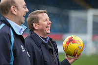 Bill Turnbull during BBC Breakfast as they air their live broadcast on Tuesday morning, presented by Bill Turnbull for his penultimate appearance on the programme at Adams Park, High Wycombe, England on 23 February 2016. Photo by Andy Rowland.
