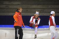 SCHAATSEN: HEERENVEEN: 19-09-2014, IJsstadion Thialf, Topsporttraining, Peter Kolder (trainer Team Corendon), Sjoerd de Vries, ©foto Martin de Jong