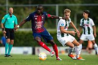 HAREN - Voetbal, FC Groningen - SM Caen, voorbereiding seizoen 2018-2019, 04-08-2018,  FC Groningen speler Tom van Weert met Prince Oniangue
