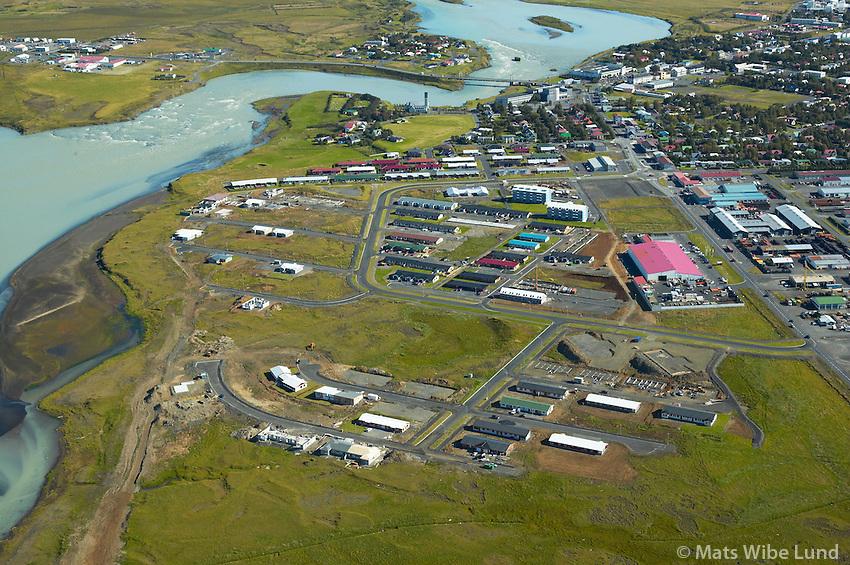 Fossland séð til norðurs, Selfoss, Árborg /.Fossland viewing north. Selfoss, Arborg.