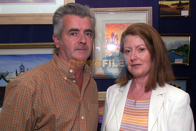 Tom and Eileen Gernon pictured at the art exhibition at Aclint community hall in which Eileen was exhibiting..Picture: Arthur Carron/Newsfile
