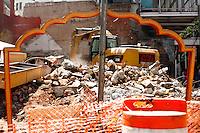 SAO PAULO, SP, 10 SETEMBRO 2012 - Demolicao da Boate Kilt, localizada na Rua Nestor Pestana, Centro de S&atilde;o Paulo nesta segunda-feira, 10.<br /> FOTO: POLINE LYS - BRAZIL PHOTO PRESS