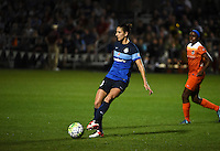 Kansas City, MO - Saturday May 07, 2016: FC Kansas City midfielder Yael Averbuch (10) against Houston Dash during a regular season National Women's Soccer League (NWSL) match at Swope Soccer Village. Houston won 2-1.