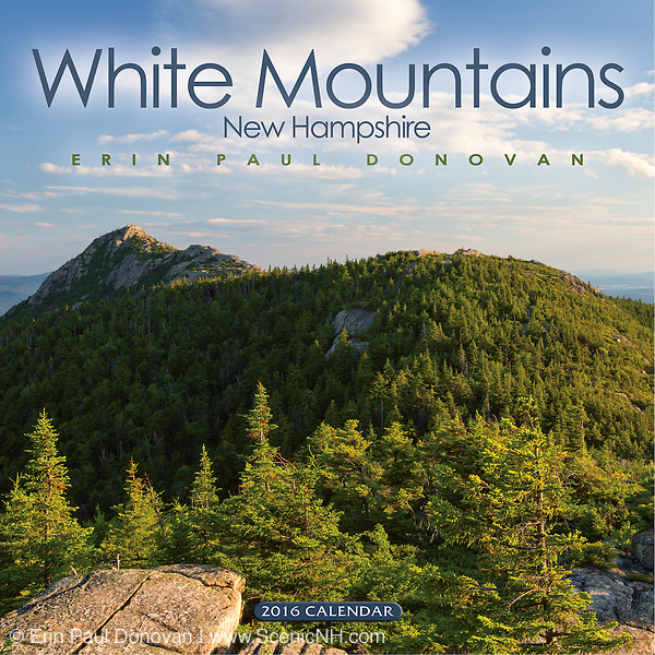 Front cover of the 2016 White Mountains, New Hampshire wall calendar by ScenicNH Photography LLC | Erin Paul Donovan. The calendar can be purchased here: http://bit.ly/17LpoRV