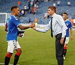 25.07.2019 Rangers v Progres Niederkorn: James Tavernier and Steven Gerrard