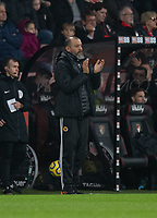 Wolverhampton Wanderers manager Nuno Espirito Santo applauds his team as Wolverhampton Wanderers' Raul Jimenez scores his side's second goal<br /> <br /> Photographer David Horton/CameraSport<br /> <br /> The Premier League - Bournemouth v Wolverhampton Wanderers - Saturday 23rd November 2019 - Vitality Stadium - Bournemouth<br /> <br /> World Copyright © 2019 CameraSport. All rights reserved. 43 Linden Ave. Countesthorpe. Leicester. England. LE8 5PG - Tel: +44 (0) 116 277 4147 - admin@camerasport.com - www.camerasport.com