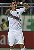 New York Cosmos forward No. 8 Gaston Cellerino salutes the crowd after he scored his third goal of the match in the NASL Championship against the Ottawa Fury at Shuart Stadium, located on the campus of Hofstra University, on Sunday, Nov. 15, 2015. He led the Cosmos to a 3-2 win.<br /> <br /> James Escher