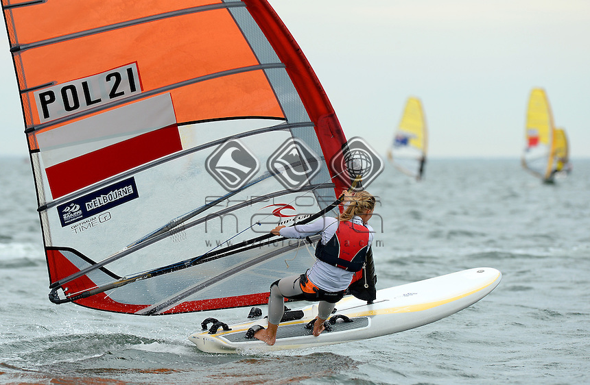 RSX-Women / Malgorzata BIALECKA (POL)<br /> 2013 ISAF Sailing World Cup - Melbourne<br /> Sail Melbourne - The Asia Pacific Regatta<br /> Sandringham Yacht Club, Victoria<br /> December 1st - 8th 2013<br /> &copy; Sport the library / Jeff Crow