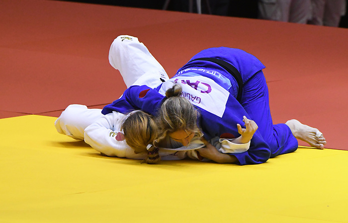 Priscilla Gagne competes in Par Judo at the 2019 ParaPan American Games in Lima, Peru-24aug2019-Photo Scott Grant