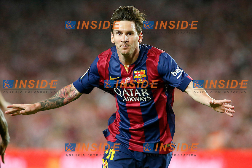 FC Barcelona's Leo Messi celebrates goal during Spanish King's Cup Final match. May 30,2015. (ALTERPHOTOS/Acero) <br /> Atletico Bilbao - Barcellona Coppa del Re Finale <br /> Foto Insidefoto