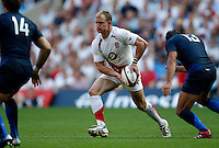 Photo: Richard Lane/Richard Lane Photography..England v France. Rugby World Cup 2007 Warm-up Match. 11/08/2007. .England's Jamie Noon.