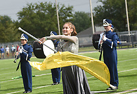 NWA Democrat-Gazette/FLIP PUTTHOFF <br />MUSIC MARCH<br />Chloe Riggins with the Shiloh Christian high school marching band of Springdale peforms Saturday Oct. 6 2018 during the Bentonville Marching Invitational at Tiger Stadium in Bentonville. Seventeen marching bands from high schools in Arkansas, Missouri and Oklahoma competed. Each band performed 15 minutes for judges in the event.
