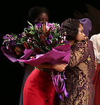 Jennifer Hudson and Allee Willis during the Broadway Opening Night Performance Curtain Call for 'The Color Purple' at the Bernard B. Jacobs Theatre on December 10, 2015 in New York City.