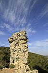 "Israel, Upper Galilee, ""Elijah's chair"" (kise eliyahu) on Mount Meron"