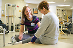 Staff and patients at Duke Rehabilitation Institute at Duke Regional Hospital.