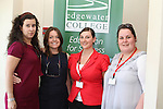 Student, Joanna Rebola with teacher Sharon Cunningham, teacher trainer Sarah Humphries and marketing coordinator Danielle Wall at the Open Day at Edgewater College...Picture Jenny Matthews/Newsfile.ie