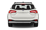 Straight rear view of a 2019 Ford Focus-Clipper Active-Business 5 Door Wagon stock images