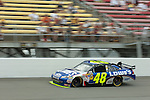 June 14 2009:  Jimmie Johnson races in the LifeLock 400 at Michigan International Speedway in Brooklyn, MIchigan.