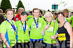 Currow runners Brid Daly Kerry Lynch, Deidre O'Sullivan, Lily O'Sullivan and Catherine McCarthy  at the end of the Killarney Run half marathon in the Gleneagle Hotel on Saturday