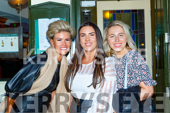 Sarah Burke centre with Donna Burke Duffy left and Vivien Parker enjoying some drinks in Murphy's bar Killarney on Saturday night (check email)
