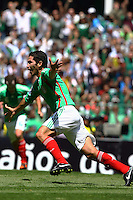 Action photo of Israel Castro of Mexico, during World  Cup 2010 qualifier game against USA at the Azteca Stadium./Foto de accion de Israel Castro de Mexico, durante juego eliminatorio de Copa del Mundo 2010 en el Estadio Azteca. 12 August 2009. MEXSPORT/OMAR MARTINEZ