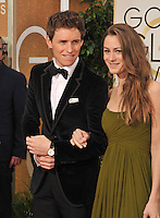 Eddie Redmayne &amp; Hannah Bagshawe at the 72nd Annual Golden Globe Awards at the Beverly Hilton Hotel, Beverly Hills.<br /> January 11, 2015  Beverly Hills, CA<br /> Picture: Paul Smith / Featureflash