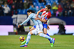 Gabriel Fernandez Arenas, Gabi, (r) of Atletico de Madrid competes for the ball with Pedro Pablo Hernandez of RC Celta de Vigo during their La Liga match between Atletico de Madrid and RC Celta de Vigo at the Vicente Calderón Stadium on 12 February 2017 in Madrid, Spain. Photo by Diego Gonzalez Souto / Power Sport Images