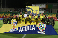 BUCARAMANGA - COLOMBIA, 06-10-2019: Jugadores del Bucaramanga posan para una foto previo al partido por la fecha 15 entre Atlético Bucaramanga y Deportivo Independiente Medellín como parte de la Liga Águila II 2019 jugado en el estadio Alfonso López de la ciudad de Bucaramanga. / Players of Bucaramanga pose to a photo prior Match for the date 15 between Atletico Bucaramanga and Deportivo Independiente Medellin as a part Aguila League II 2019 played at Alfonso Lopez stadium in Bucaramanga city. Photo: VizzorImage / Oscar Martinez / Cont