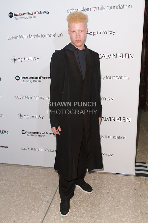Shaun Ross arrives at the Future of Fashion 2017 runway show at the Fashion Institute of Technology on May 8, 2017.