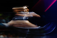 Paul Coll of New Zealand competes against James Willstrop of England in the Men's Singles Final. Gold Coast 2018 Commonwealth Games, Squash, Oxenford Studios, Gold Coast, Australia. 9 April 2018 © Copyright Photo: Anthony Au-Yeung / www.photosport.nz /SWpix.com