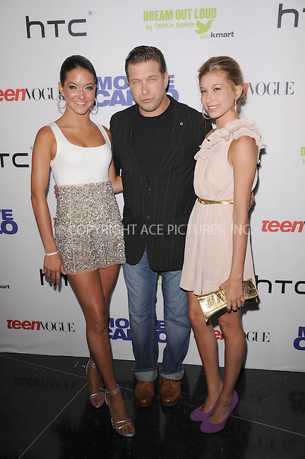 WWW.ACEPIXS.COM . . . . . .June 23, 2011...New York City...Alia Baldwin, Stephen Baldwin,Hailey Baldwin attend the 'Monte Carlo' screening at AMC Loews Lincoln Square on June 23, 2011 in New York City.....Please byline: KRISTIN CALLAHAN - ACEPIXS.COM.. . . . . . ..Ace Pictures, Inc: ..tel: (212) 243 8787 or (646) 769 0430..e-mail: info@acepixs.com..web: http://www.acepixs.com .