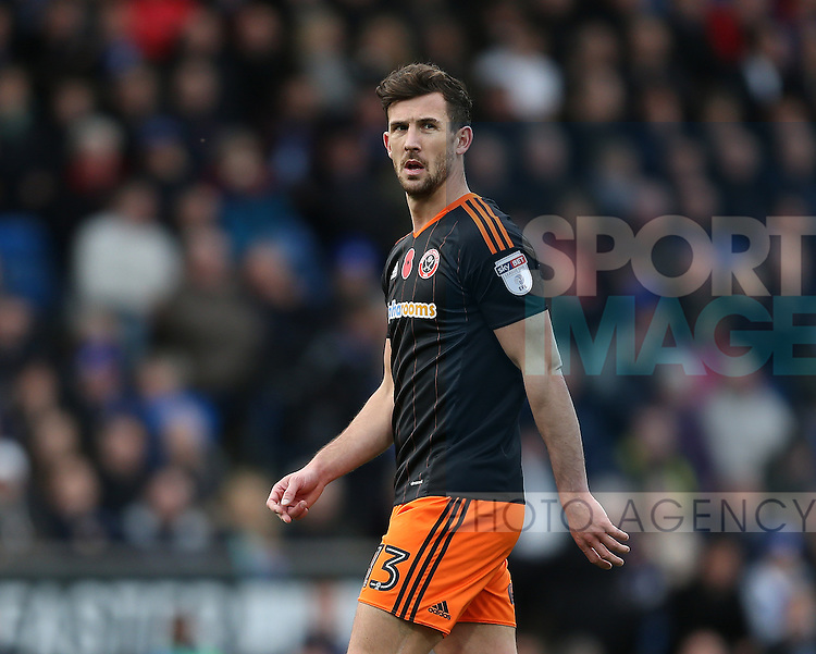 Jake Wright of Sheffield Utd  during the English League One match at the Proact Stadium, Chesterfield. Picture date: November 13th, 2016. Pic Simon Bellis/Sportimage
