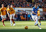 30.03.2019 Motherwell v St Johnstone: Liam Craig fails to convert his penalty kick