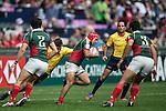 Spain vs Mexico during the HSBC Hong Kong Rugby Sevens 2016 on 08 April 2016 at Hong Kong Stadium in Hong Kong, China. Photo by Li Man Yuen / Power Sport Images
