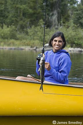 Fishing summer walleye