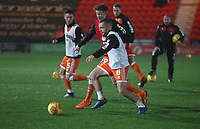 Blackpool's Jay Spearing during the pre-match warm-up <br /> <br /> Photographer Rachel Holborn/CameraSport<br /> <br /> The EFL Sky Bet League One - Doncaster Rovers v Blackpool - Tuesday 27th November 2018 - Keepmoat Stadium - Doncaster<br /> <br /> World Copyright &copy; 2018 CameraSport. All rights reserved. 43 Linden Ave. Countesthorpe. Leicester. England. LE8 5PG - Tel: +44 (0) 116 277 4147 - admin@camerasport.com - www.camerasport.com