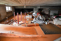 Pictured: A flooded basement in Messini, near the town of Kalamata, Messinia, Greece. Wednesday 07 September 2016<br /> Re: Severe flash flooding has affected parts of Messinia County in southern Greece.