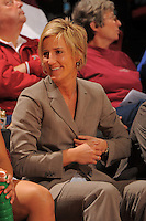 STANFORD, CA - JANUARY 10:  Assistant coach Kate Paye of the Stanford Cardinal during Stanford's 102-53 win against the Washington State Cougars on January 10, 2009 at Maples Pavilion in Stanford, California.