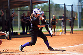 Nazareth College Golden Flyers Marissa Tortora (5) at bat during a game against the Edgewood Eagles on March 12, 2017 at North Collier Park in Fort Myers, Florida.  (Mike Janes/Four Seam Images)