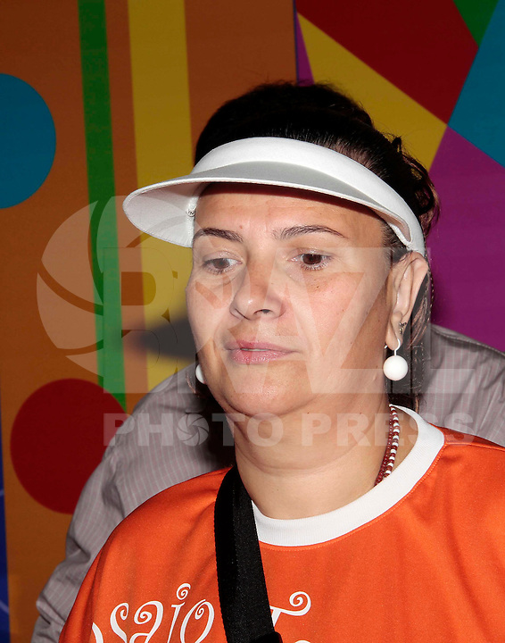 SAO PAULO, SP, 15 DE FEVEREIRO 2012 - VISTORIA SAMBODROMO - Presidente Mocidade Alegre Solange Cruz Bichara Rezende durante vistoria o Sambódromo e entrega a chave da cidade à corte do carnaval de São Paulo 2012 na manha dessa quarta-feira, 15 na regiao norte da capital paulsita FOTO: VANESSA CARVALHO - BRAZIL PHOTO PRESS.