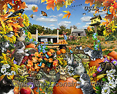Lori, REALISTIC ANIMALS, REALISTISCHE TIERE, ANIMALES REALISTICOS, paintings+++++Autumn Kitties_NEW_2_72,USLS04,#A#, EVERYDAY ,puzzles