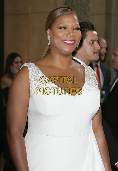 Queen Latifah.85th Annual Academy Awards held at the Dolby Theatre at Hollywood & Highland Center, Hollywood, California, USA..February 24th, 2013.oscars half length white sleeveless dress .CAP/ADM.©AdMedia/Capital Pictures.