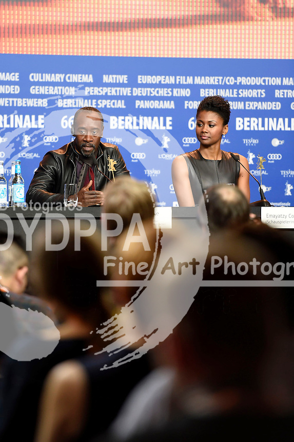 Don Cheadle and Emayatzy Corinealdi during the 'Miles Ahead' press conference at the 66th Berlin International Film Festival / Berlinale 2016 on February 18, 2016 in Berlin, Germany.