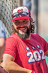 28 April 2017: Washington Nationals pitcher Tanner Roark leans on the batting cage prior to a game against the New York Mets at Nationals Park in Washington, DC. The Mets defeated the Nationals 7-5 to take the first game of their 3-game weekend series. Mandatory Credit: Ed Wolfstein Photo *** RAW (NEF) Image File Available ***