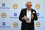 Western Nevada College President Mark Ghan speaks at the annual WNC Foundation Scholarship Appreciation &amp; Recognition Celebration in Carson City, Nev., on Friday, March 9, 2018. <br /> Photo by Cathleen Allison/Nevada Momentum