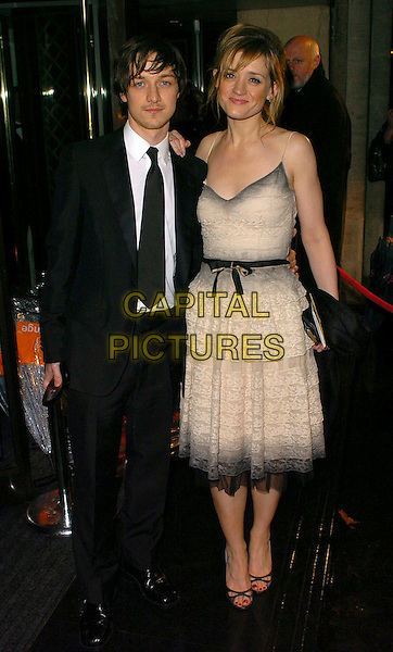JAMES McAVOY & ANNE-MARIE DUFF.The Orange British Academy Film Awards aftershow & Grosvenor House Hotel, London, UK..February 19th, 2006.Ref: CAN.full length black suit cream beige dress.www.capitalpictures.com.sales@capitalpictures.com.© Capital Pictures.