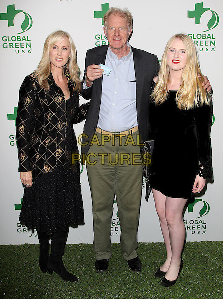 26 February 2014 - Hollywood, California - Rachelle Carson, Ed Begley Jr., Hayden Carson Begley. Global Green USA's 11th Annual Pre-Oscar Party held at Avalon.  <br /> CAP/ADM/FS<br /> &copy;Faye Sadou/AdMedia/Capital Pictures