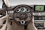 Car pictures of steering wheel view of a 2015 Mercedes Benz CLS-Class CLS400 2 Door Coupe Steering Wheel
